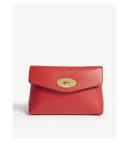 Darley grained leather small pouch