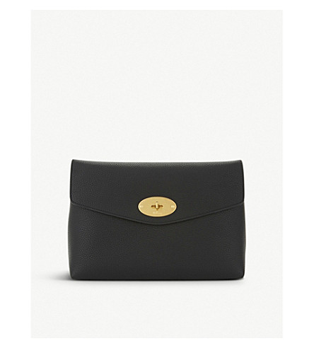 MULBERRY Darley leather pouch (Black