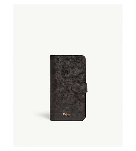 MULBERRY iPhone 6/7 grained leather flip case (Black