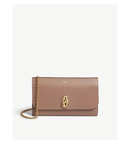 MULBERRY Amberley leather cross-body bag (Dark+blush