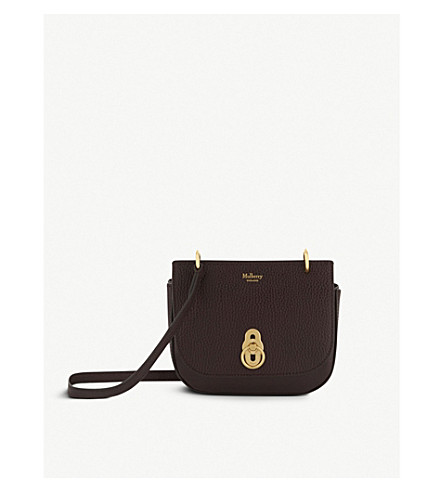 MULBERRY Amberley mini leather cross-body bag (Oxblood