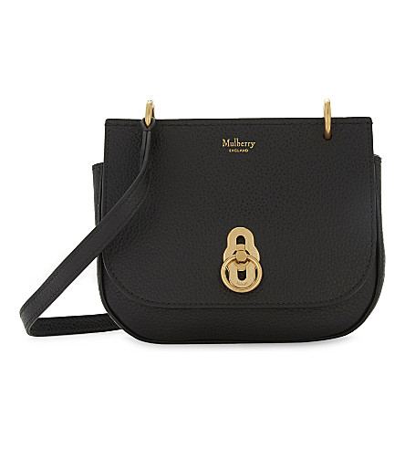MULBERRY Mini Amberley grained leather satchel (Black