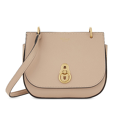 MULBERRY Mini Amberley grained leather satchel (Rosewater