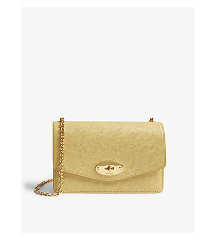 MULBERRY Darley grained leather wallet-on-chain (Golden+yellow