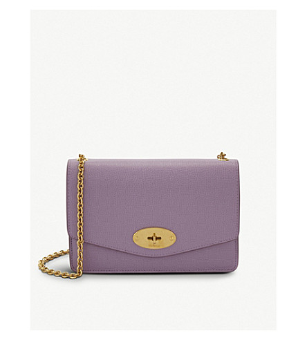MULBERRY Darley grained leather wallet-on-chain (Lilac