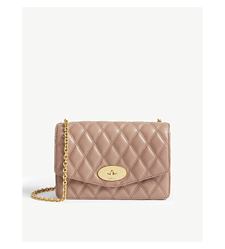 MULBERRY Darley quilted leather cross-body bag (Dark+blush