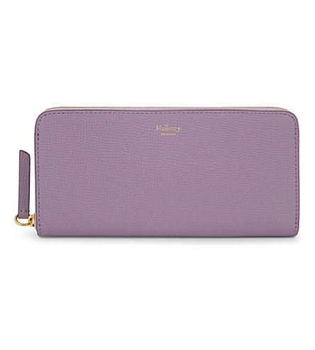 MULBERRY Logo leather wallet (Lilac