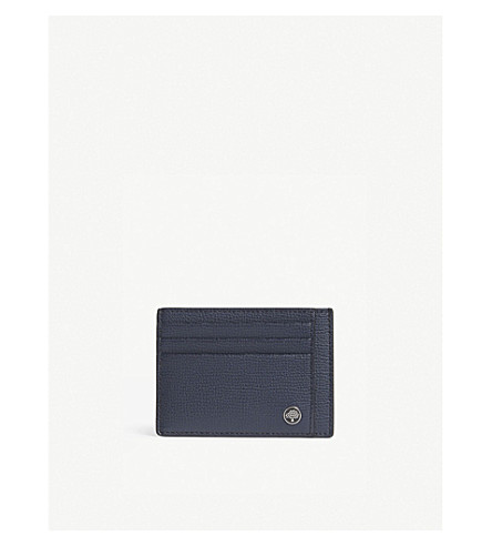 MULBERRY Grained leather card holder (Bright+navy