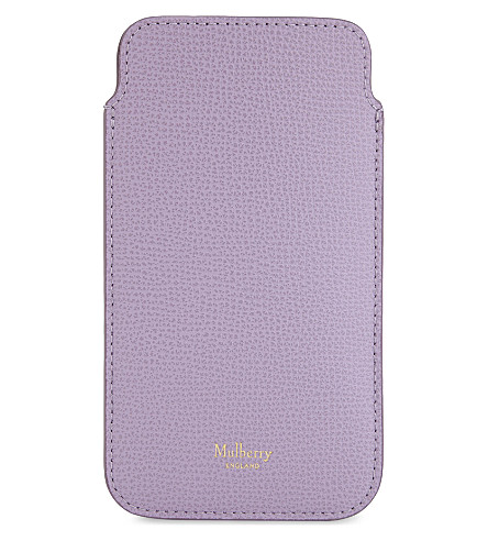 MULBERRY iPhone 7 leather cover and card slip (Lilac