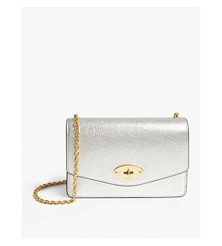 MULBERRY Darley metallic leather wallet-on-chain