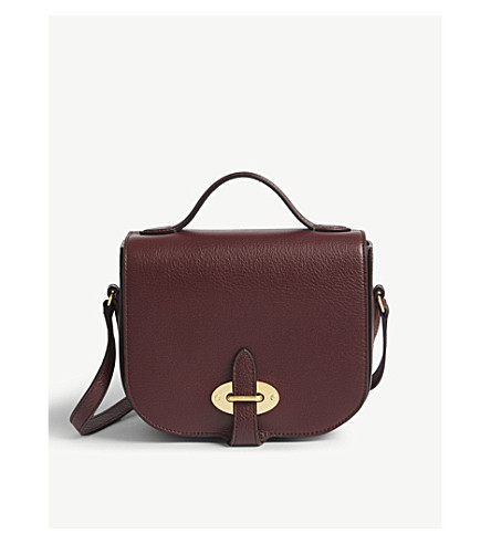 MULBERRY Tenby leather small cross-body bag (Burgundy