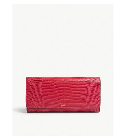 Leather lizard effect wallet