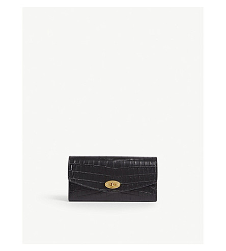 Darley croc-embossed leather wallet