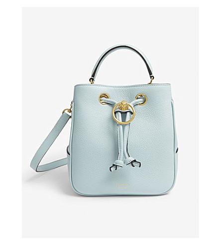 MULBERRY Hampstead leather bucket bag (Light+antique+blue 49c6c40849