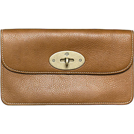 MULBERRY Long Locked leather purse (Oak