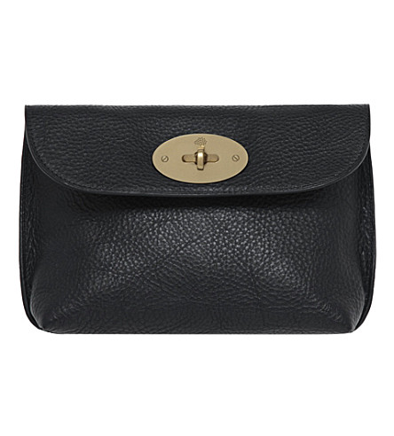 MULBERRY Locked cosmetic purse (Black