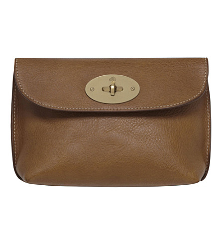 MULBERRY Locked cosmetic purse (Oak