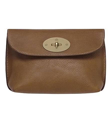 MULBERRY Locked cosmetic purse (Oak