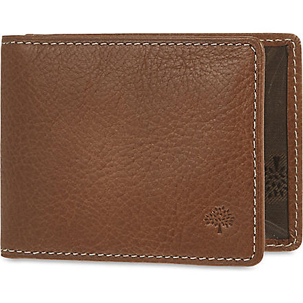 MULBERRY Natural leather travel card holder (Oak
