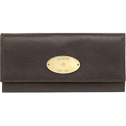 MULBERRY Darwin leather wallet (Choc