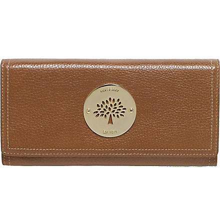 MULBERRY Daria glossy leather wallet (Oak