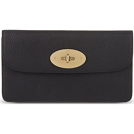 MULBERRY Long Locked leather purse (Black