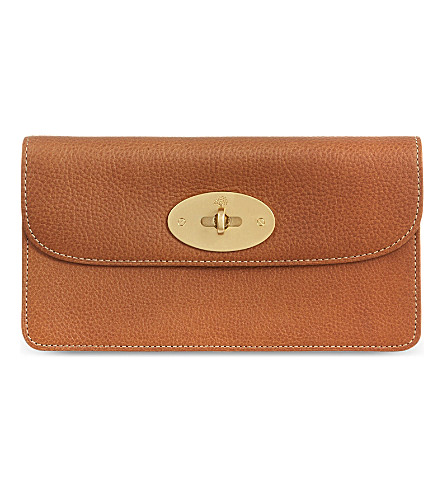 MULBERRY Long Locked natural leather purse (Oak