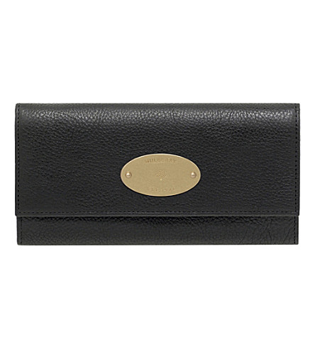 MULBERRY Natural leather continental wallet (Black