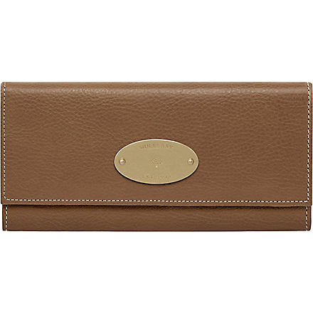 MULBERRY Natural leather continental wallet (Oak