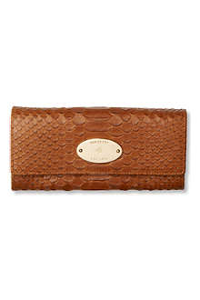 MULBERRY Silky snake-print wallet
