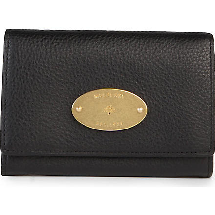 MULBERRY Natural leather French purse (Black