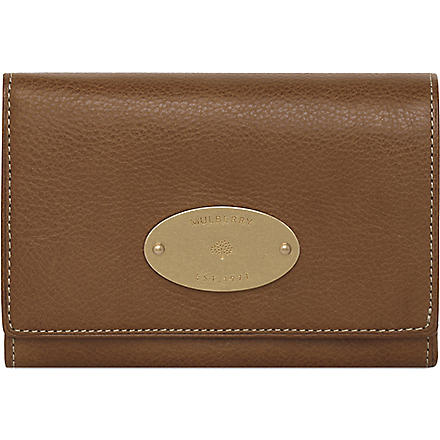 MULBERRY Natural leather French purse (Oak