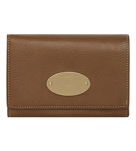 MULBERRY French purse (Oak