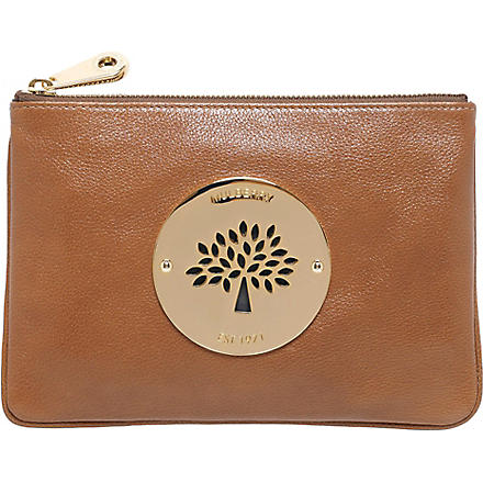 MULBERRY Daria leather pouch (Oak