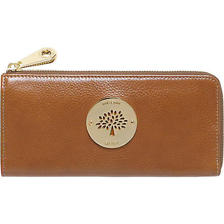MULBERRY Daria leather wallet (Oak