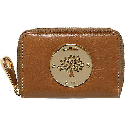 MULBERRY Daria zip–around purse (Oak