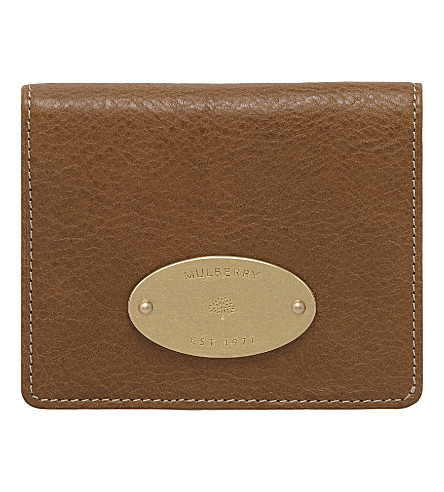 MULBERRY Natural leather ID purse (Oak