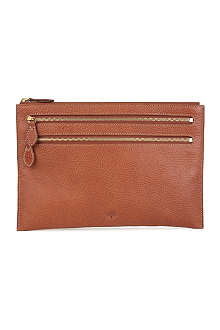 MULBERRY Multi-zip natural leather purse