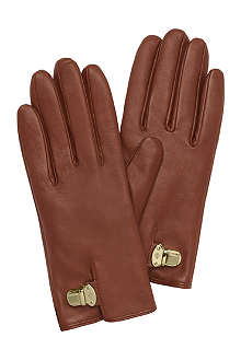 MULBERRY Polly push-lock leather gloves
