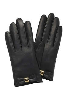 MULBERRY Bow leather gloves