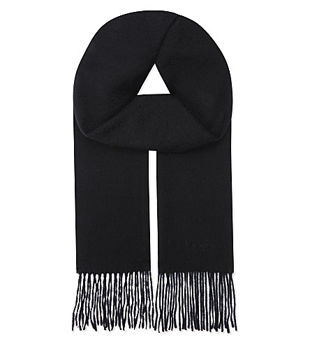 MULBERRY Cashmere scarf (Black