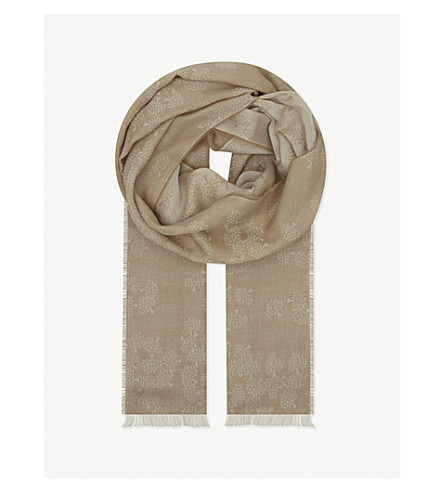 MULBERRY Tamara cotton scarf (Camel