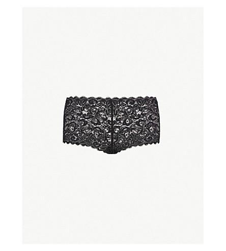 HANRO Moments stretch-lace maxi briefs (Black