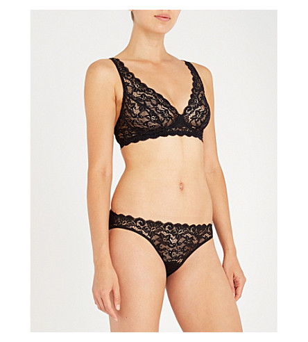 HANRO Moments lace soft-cup bra (Black