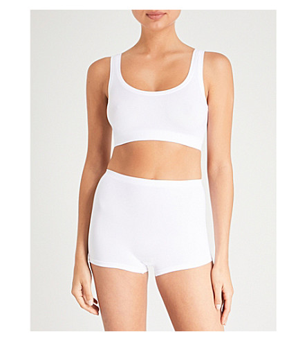 HANRO Touch Feeling crop top (White