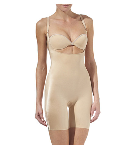 SPANX Slimplicity open-bust slip suit (Nude