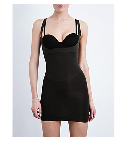 SPANX Shape My Day open-bust full slip (Black