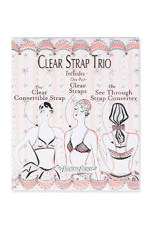 FASHION FORMS Clear strap trio