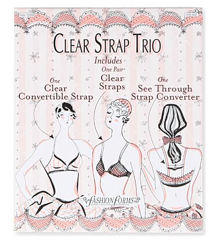 FASHION FORMS Clear strap trio (Clear