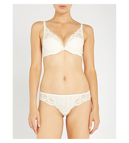 SIMONE PERELE Wish triangle push-up bra (Ivory